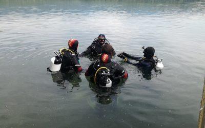 Potápění na Barboře