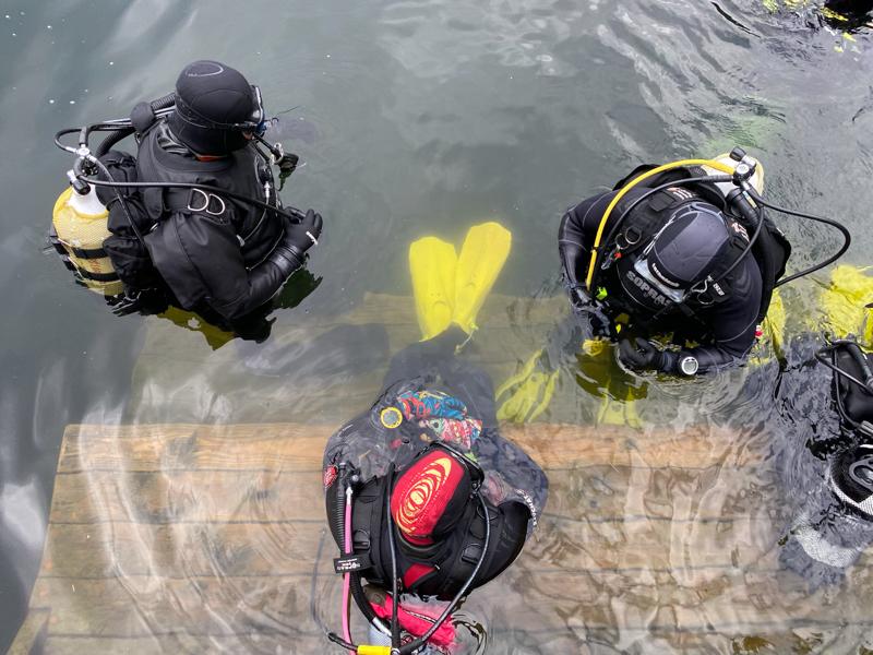 Potápění na Leštince
